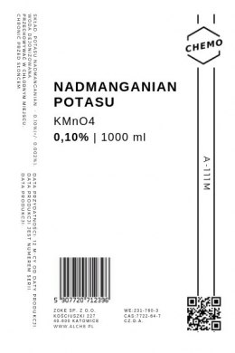Nadmanganian potasu 0,10%. 1000 ml