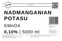 Nadmanganian potasu 0,100%. 5000 ml